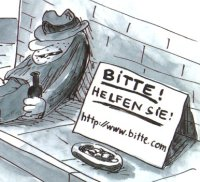 bitte.com Cartoon (c) Rattelschneck