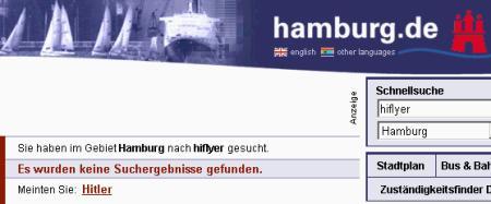 Hiflyer gesucht, Hitler gefunden