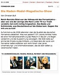 Spiegel Online: Gelungener TV-Rückblick