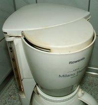 Weiße Kaffeemaschine
